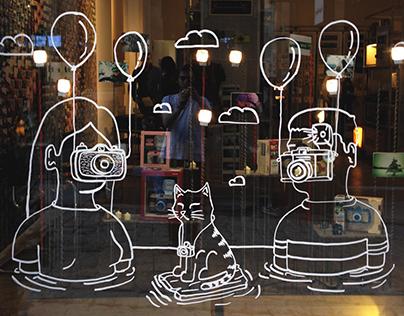 Lomography Window Illustration