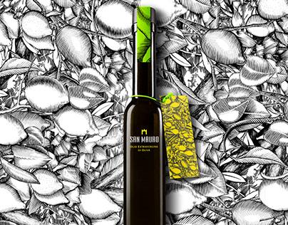San Mauro Lemon Oil packaging design