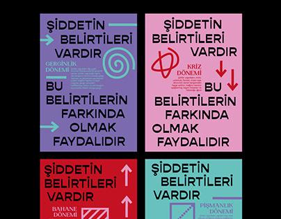 """""""şiddetin belirtileri"""" poster"""