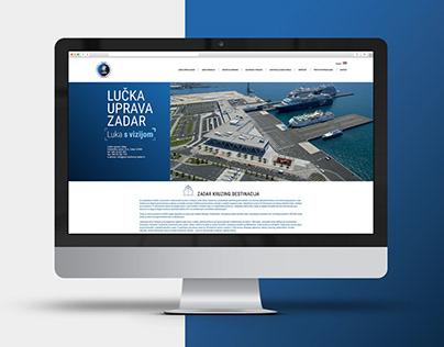 Port Authority Zadar web page