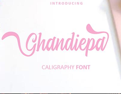 Ghandiepa Font | Best Calligraphy Font