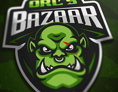 Orc's Bazaar mascot logo project