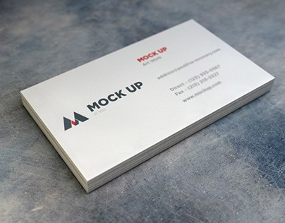 Simple Business Card Mock Up Free PSD