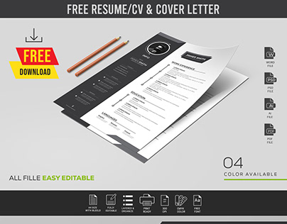 FREE Resume/CV & Cover Letter Template
