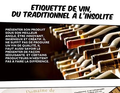 Oser une étiquette de vin différente