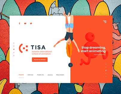 Landing Page para Tiza, escuela de animación