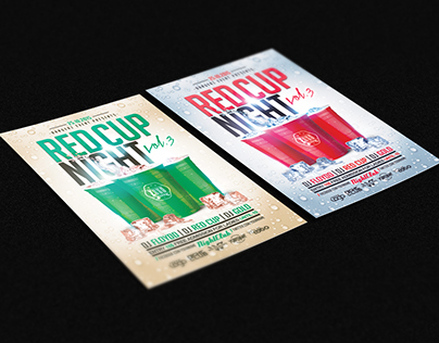 RED CUP PSD Flyer Template