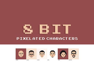 8 Bit - Pixelated Characters