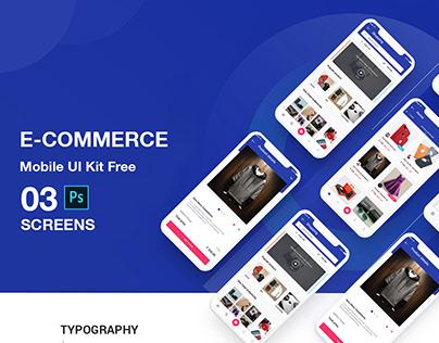 Ecommerce mobile app design PSD