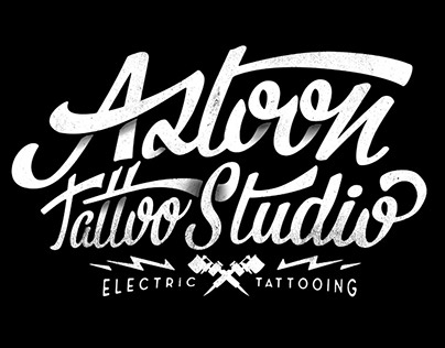Logotype for Aztoon Tattoo Studio, Electric Tattooing