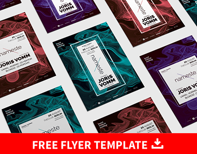 FREE Nameste PSD Flyer Template