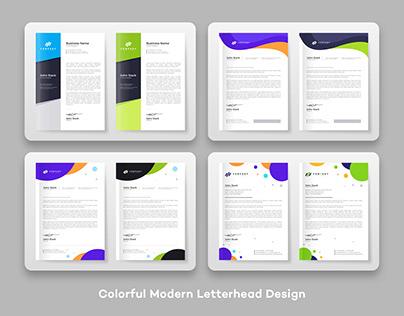Colorful Modern Letterhead Design