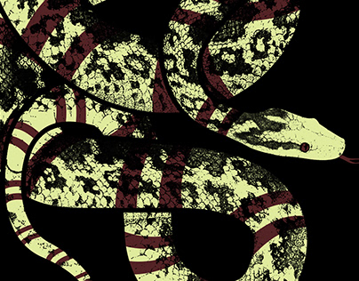Snake Illustration T-shirt Graphic - Mauvais AW/19