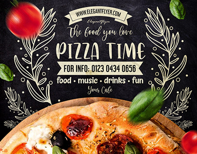 Pizza Time – PSD Flyer Template