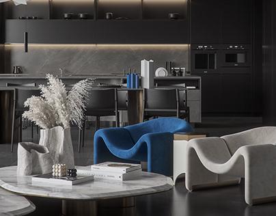 Dark-Blue Interior Design