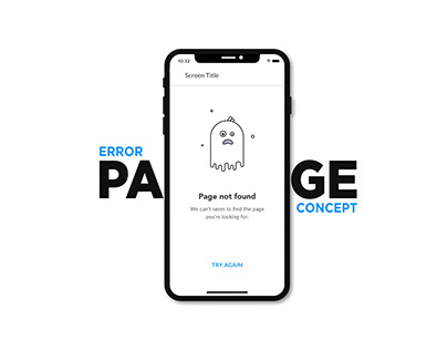 Error Page- UI Animation