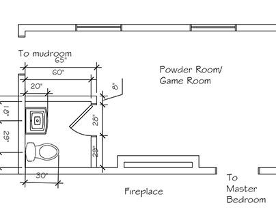 Bellew-Jordon House Game Room/Powder Room Added