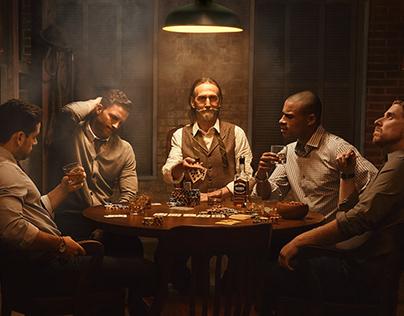Ezra Brooks Bourbon Whiskey Ad Campaign