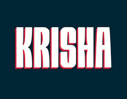 KRISHA - FREE BIG & BOLD DISPLAY FONT