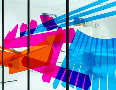 INTERIOR TAPE ART MURAL // Kuwait