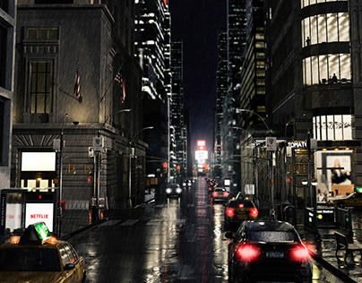 Rainy Evening in New York