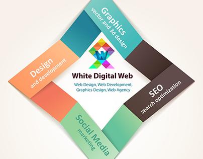 Creative Info-graphics Design - White Digital Web