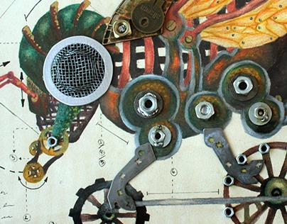 Anatome est Apis - Quadro Steampunk