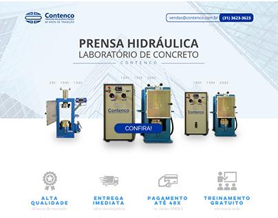 Contenco | Concreto landing page