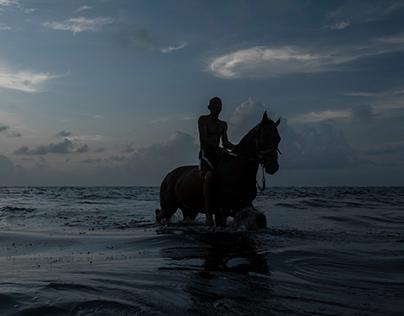 El hombre y su caballo