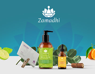Zamadhi Organic Skin Care branding