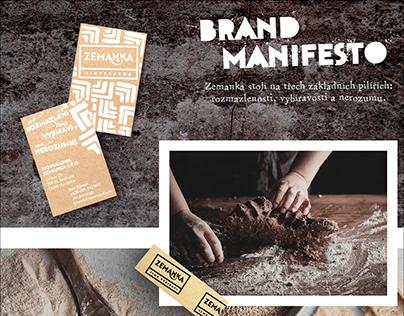 Biopekárna Zemanka brand manifesto