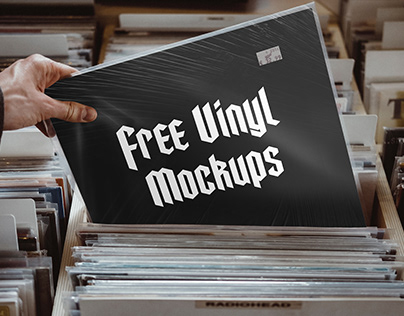 Free Vinyl Cover Mockups .PSD
