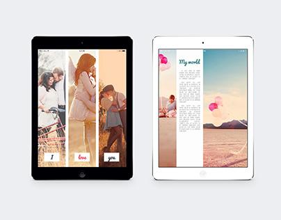Ipad&Tablet Valentines Photo Album