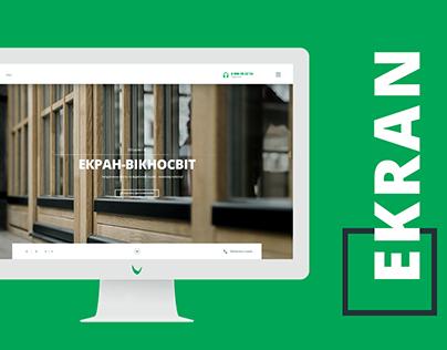 EKRAN Viknosvit — redesign of corporate website