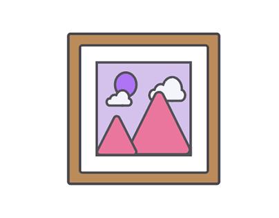 Icon design for artist portfolio website