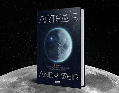 BOOK COVER DESIGN - Andy Weir - Artemis