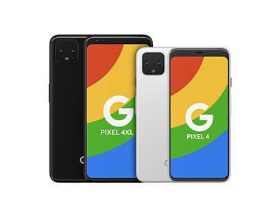 Pixel 4 + 4XL high poly 3D model