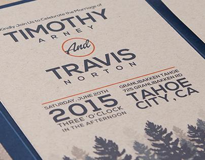 Tim & Travis Wedding Invitation
