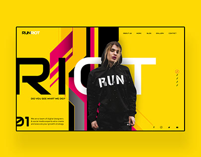 Run Riot Digital Agency Website Landing Concept