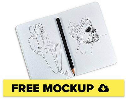 Free Sketchbook mockup