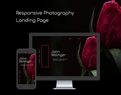 Responsive Portfolio Landing Page