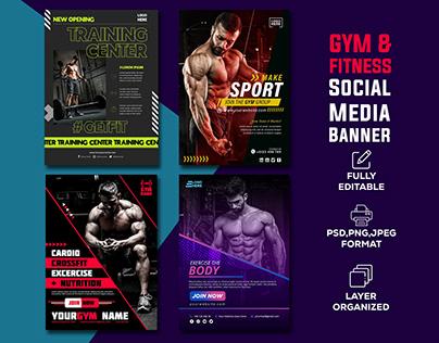 Gym & Fitness ISocial Media Banner