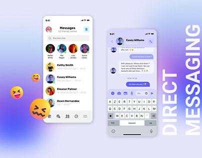 Daily UI 013 - Direct Messaging App iOS by iPaulette
