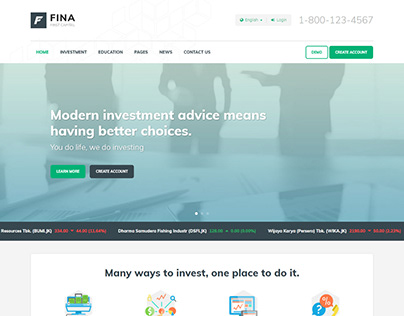 Fina - Finance and Business HTML Template
