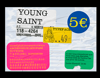 YOUNG SAINT TYPEFACE - (C) LOUIS GHERARDI 2019