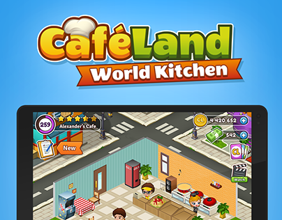 Cafeland - World Kitchen Game UI