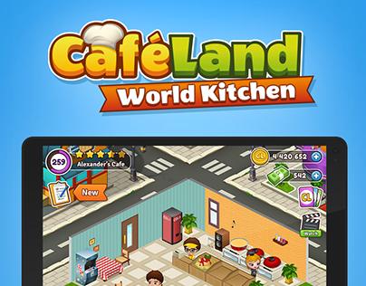Cafeland - World Kitchen Game UI