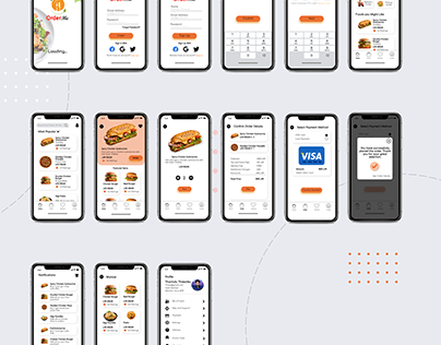 OrderMe Food ordering Mobile App UI
