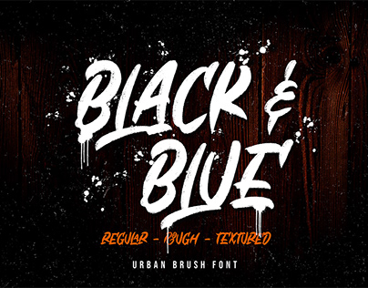 Free Black & Blue Brush Font