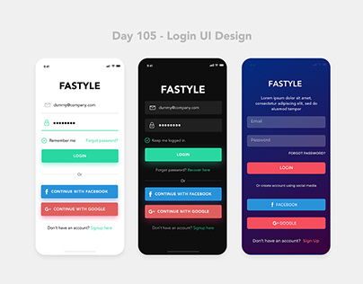 Day 105 - Login UI Design